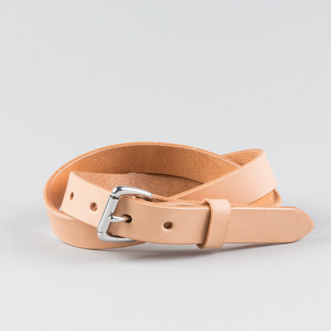 SKINNY BELT NATURAL/STAINLESS STEEL