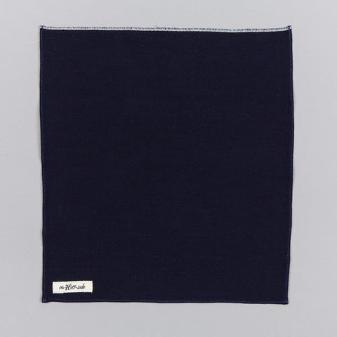 SELVEDGE INDIGO PANAMA CLOTH POCKET SQUARE