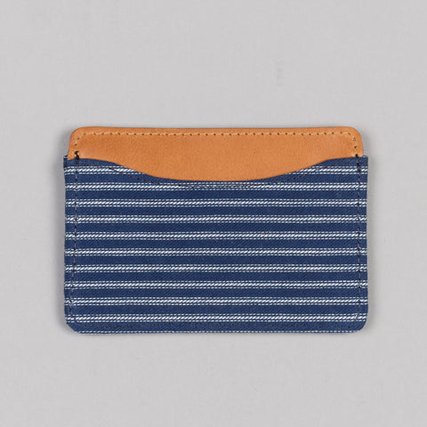 SELVEDGE INDIGO STRIPE TWILL CARD CASE