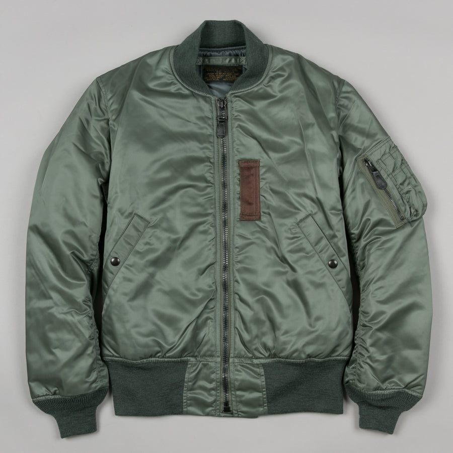 THE REAL McCOY S-TYPE MA-1 FLIGHT JACKET SAGE-Supply   Advise ... 5b9503ffc54
