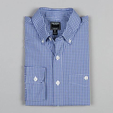 BLUE MINI CHECK BUTTON DOWN