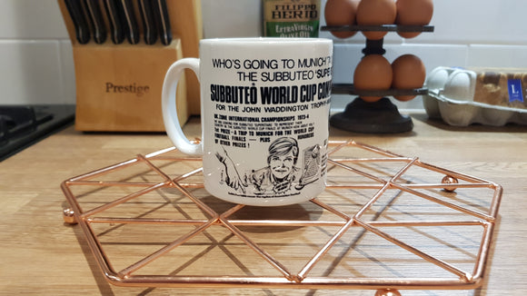 Subbuteo Who's Going To Munich Mug