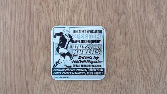 Roy of the Rovers Subbuteo Coaster