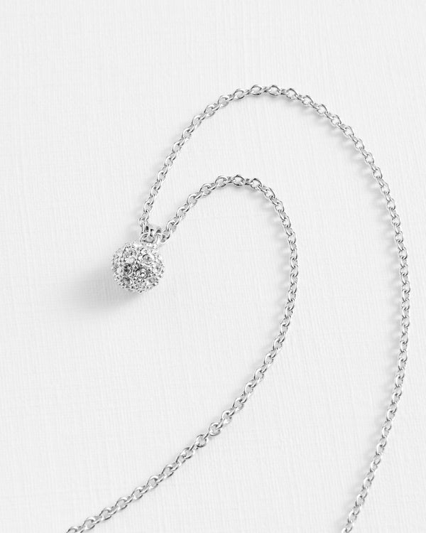 Pavra Silver Tone Necklace