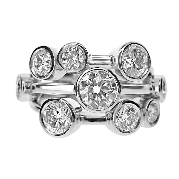 Cunningham Jewellers Diamond Collection Bubble Ring in White Gold