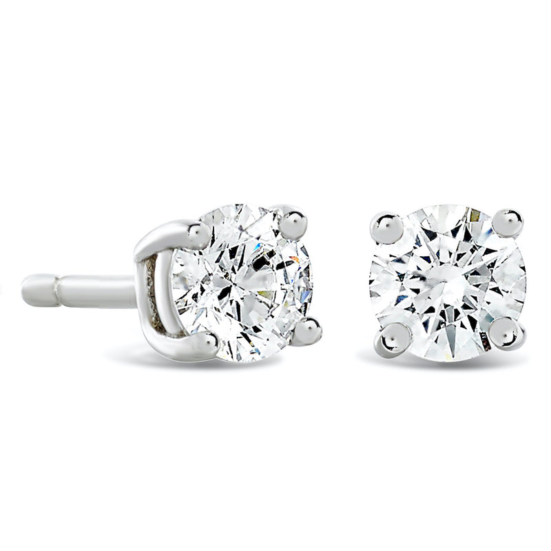Classic Solitaire Diamond Earrings