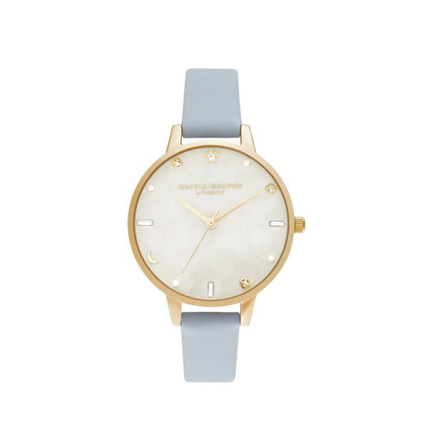 Celestial Chalk Blue & Pale Gold Watch