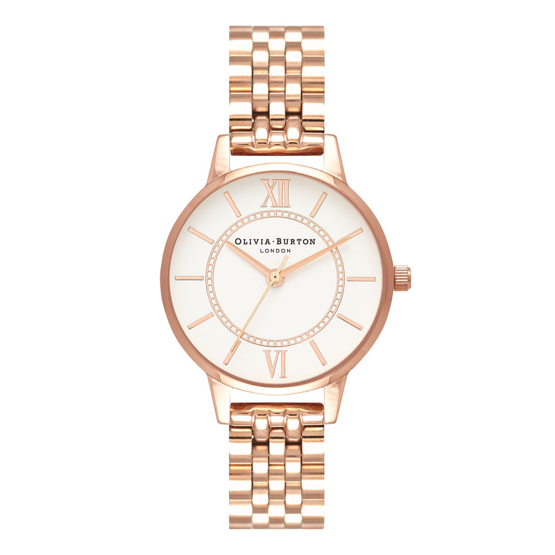 Wonderland White Dial & Rose Gold Bracelet