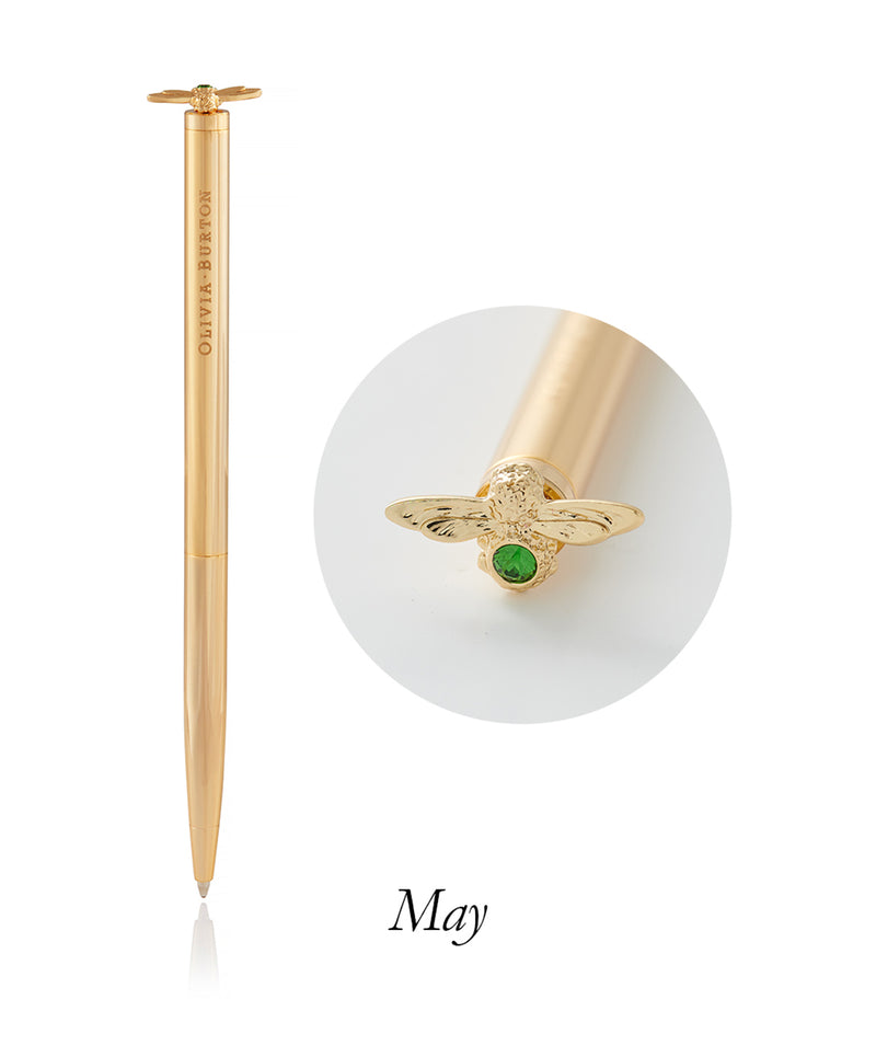 Celebrattion Bee Pen - Gold & Green Agate