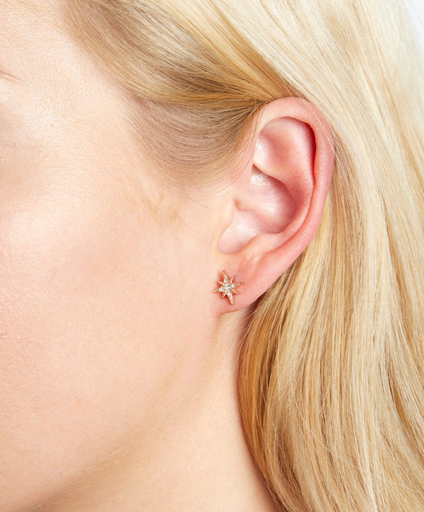 North Star Rose Gold Stud Earrings