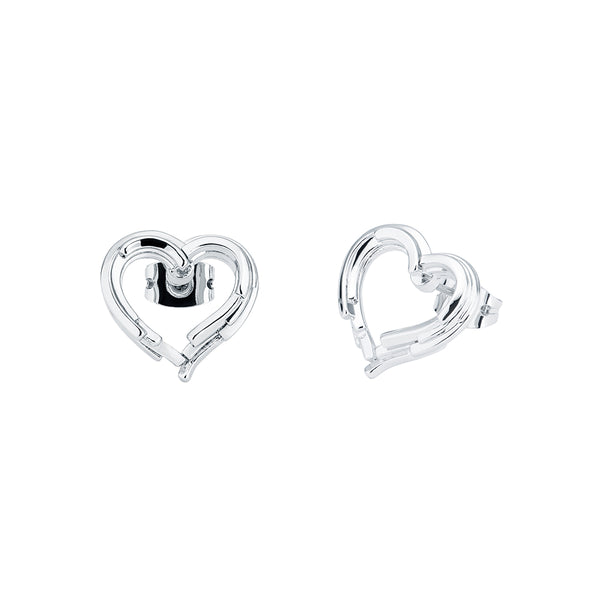 Lornaa: Layered Heart Stud Earring