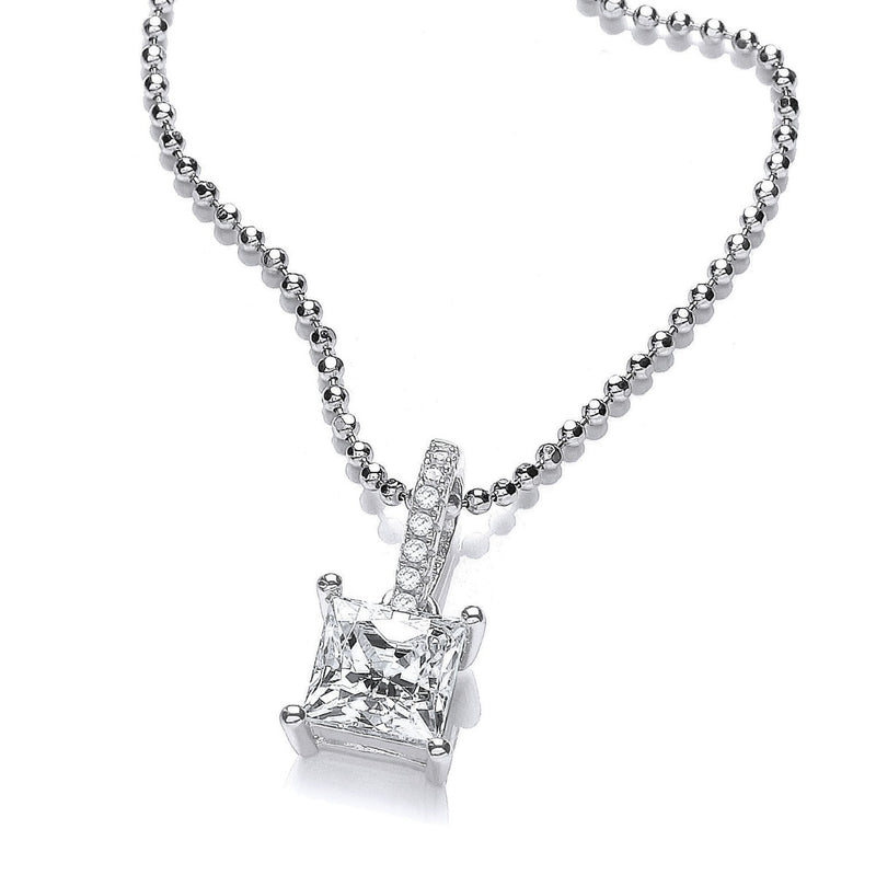 Square Swarovski Crystal Necklace