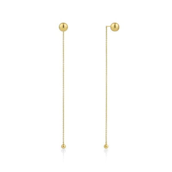 Orbit Gold Tone Earrings