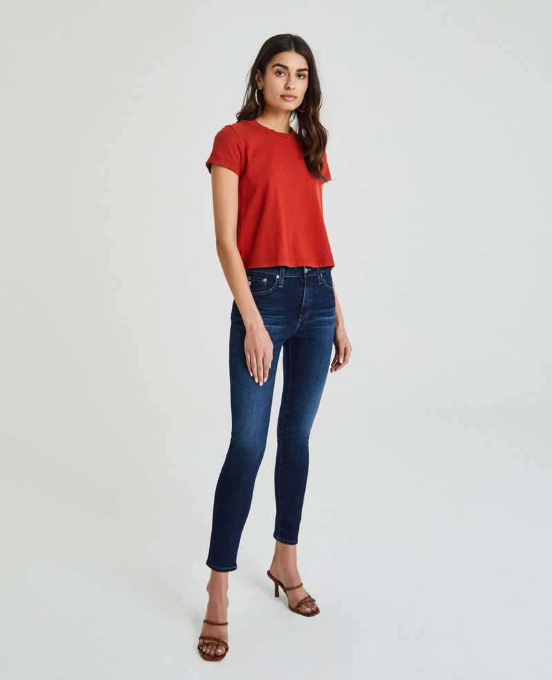AG JEANS The Farrah Skinny Ankle in 4YRS Deep Willows