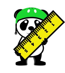 select scooter panda with ruler