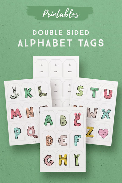 Alphabet Printable Gift Tags