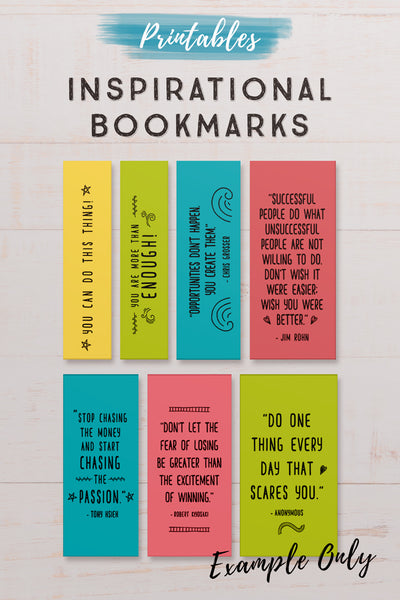 12 Inspirational Printable Bookmarks