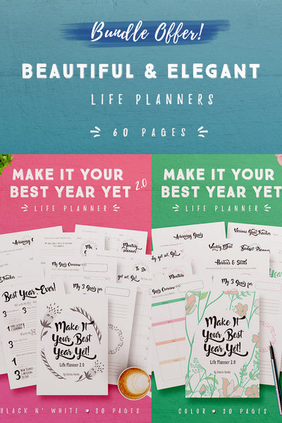Bundle Offer: Make It Your Best Year Yet Life Planner 2.0 (60 Pages)