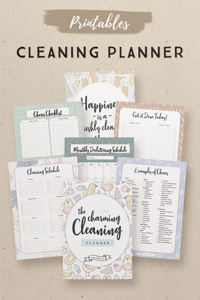 Charming Cleaning Planner Printables*