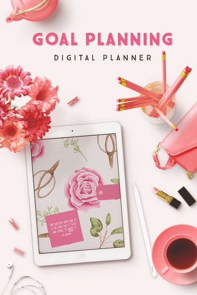 Goal Planning Digital Planner [64 Pages]