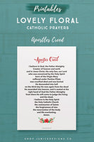 Lovely Floral Catholic Prayers