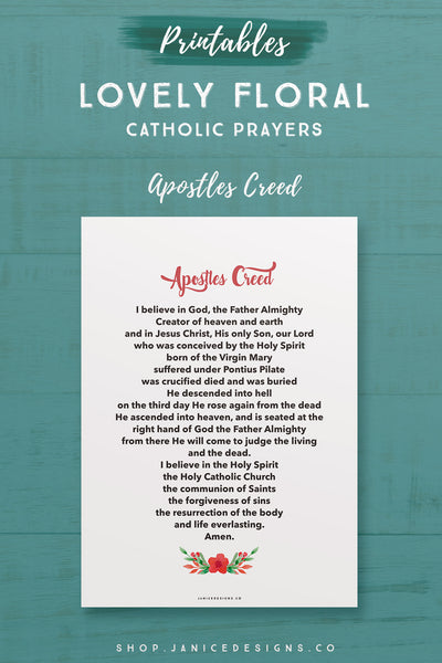 Prayer: Apostles Creed