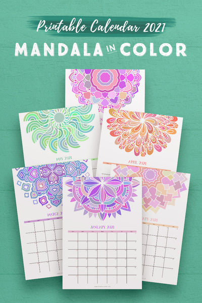 NEW 2021 Calendar: Mandala in Color*