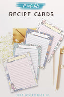 Recipe Card Printables*