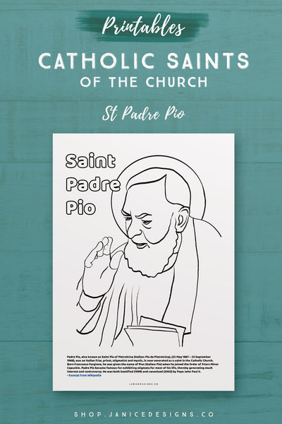 CS: Saint Padre Pio Coloring Page