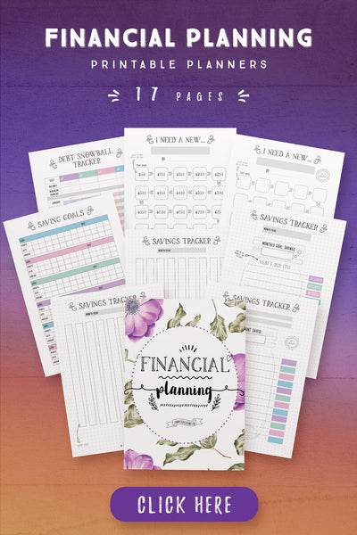 Financial Planning Printables [17 Pages]