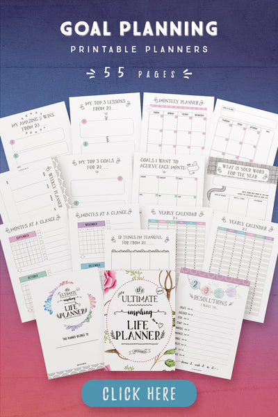 Goal Planning Printables [55 Pages]