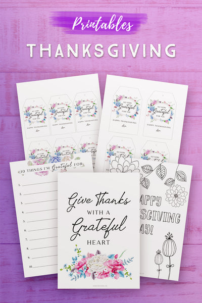Thanksgiving Printables Set*