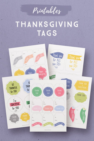 Cheerful Thanksgiving Gift Tags