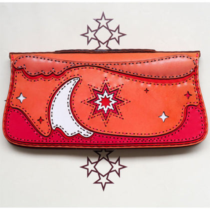 【SALE】【20% OFF】 【benefits key cap】 【ojaga design:  long wallet/clutch bag NAOS
