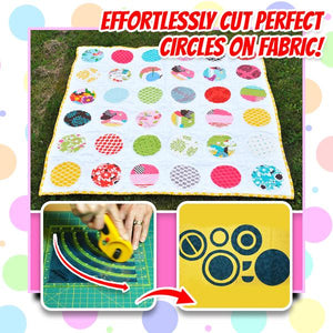 [PROMO 30% OFF] OmniWhirl Circle Cutter Ruler