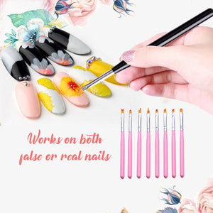 [PROMO 30% OFF] Flower Nail Art Brush Pen (8pcs)
