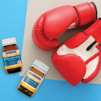 Vitamins and boxing gloves