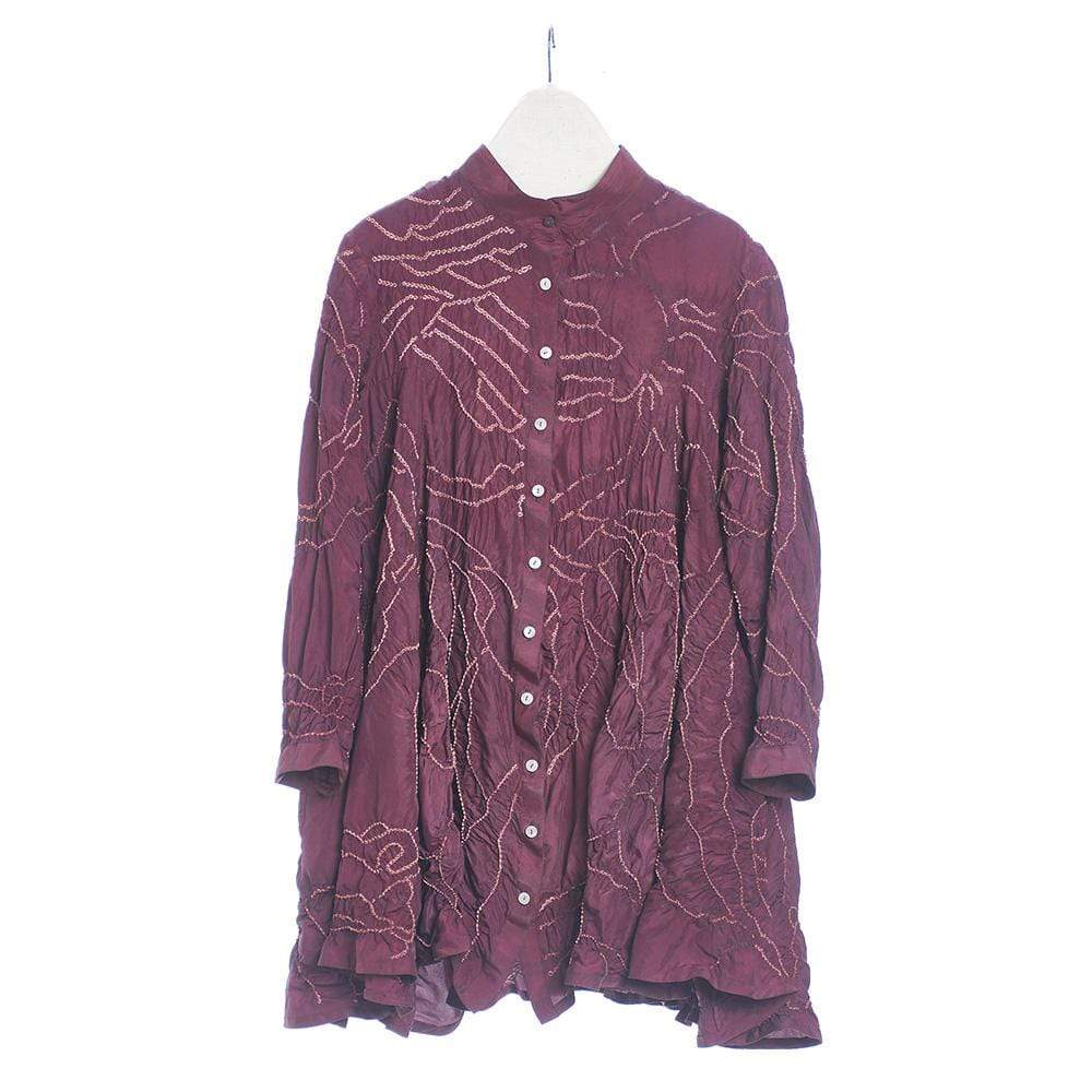 11.11/eleven.eleven Shirts & Tops Fine silk wine shirt