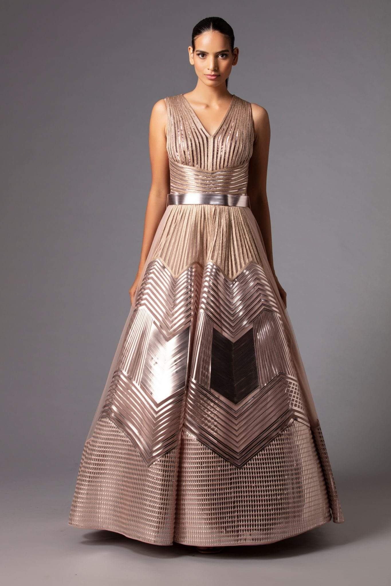 Amit Aggarwal Gowns Metallic structured gown