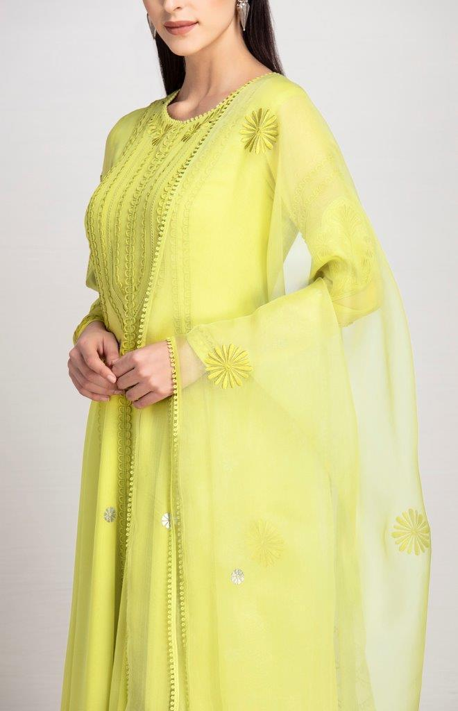 AMPM Anarkalis Isabis lime anarkali set
