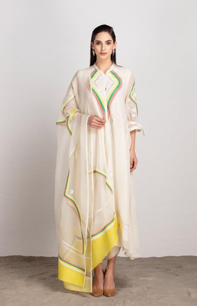 AMPM Kurtas Alika ivory suit set