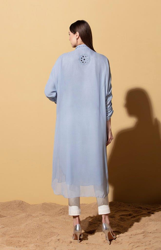 AMPM Tunics Gemma stone blue tunic with dhoti pants