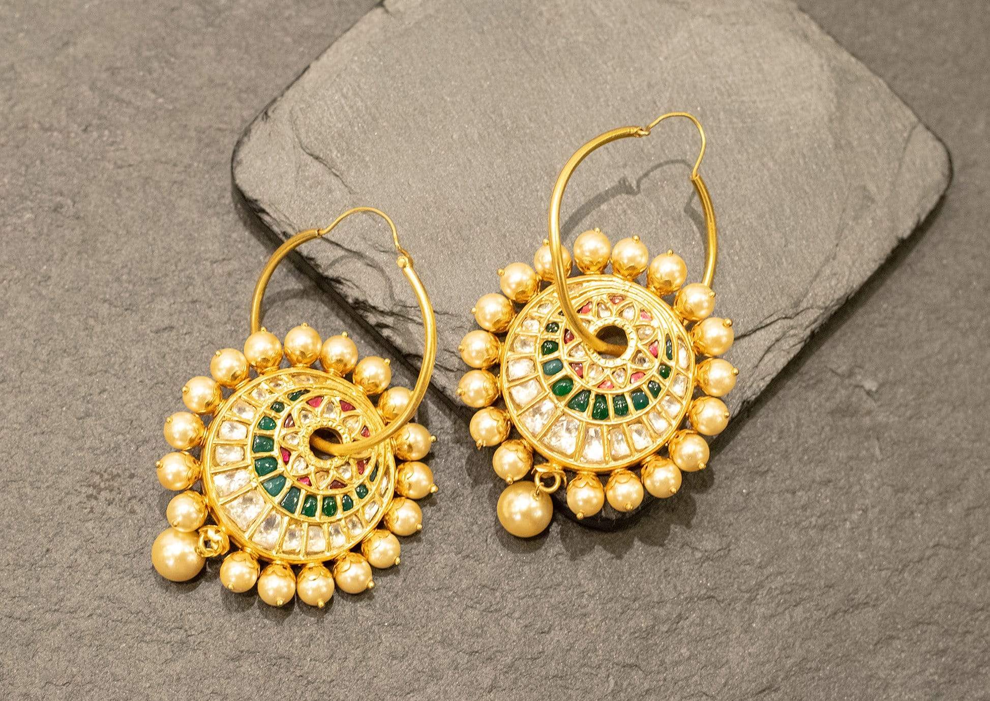 Amrapali Earrings Gold plated earrings with pearls