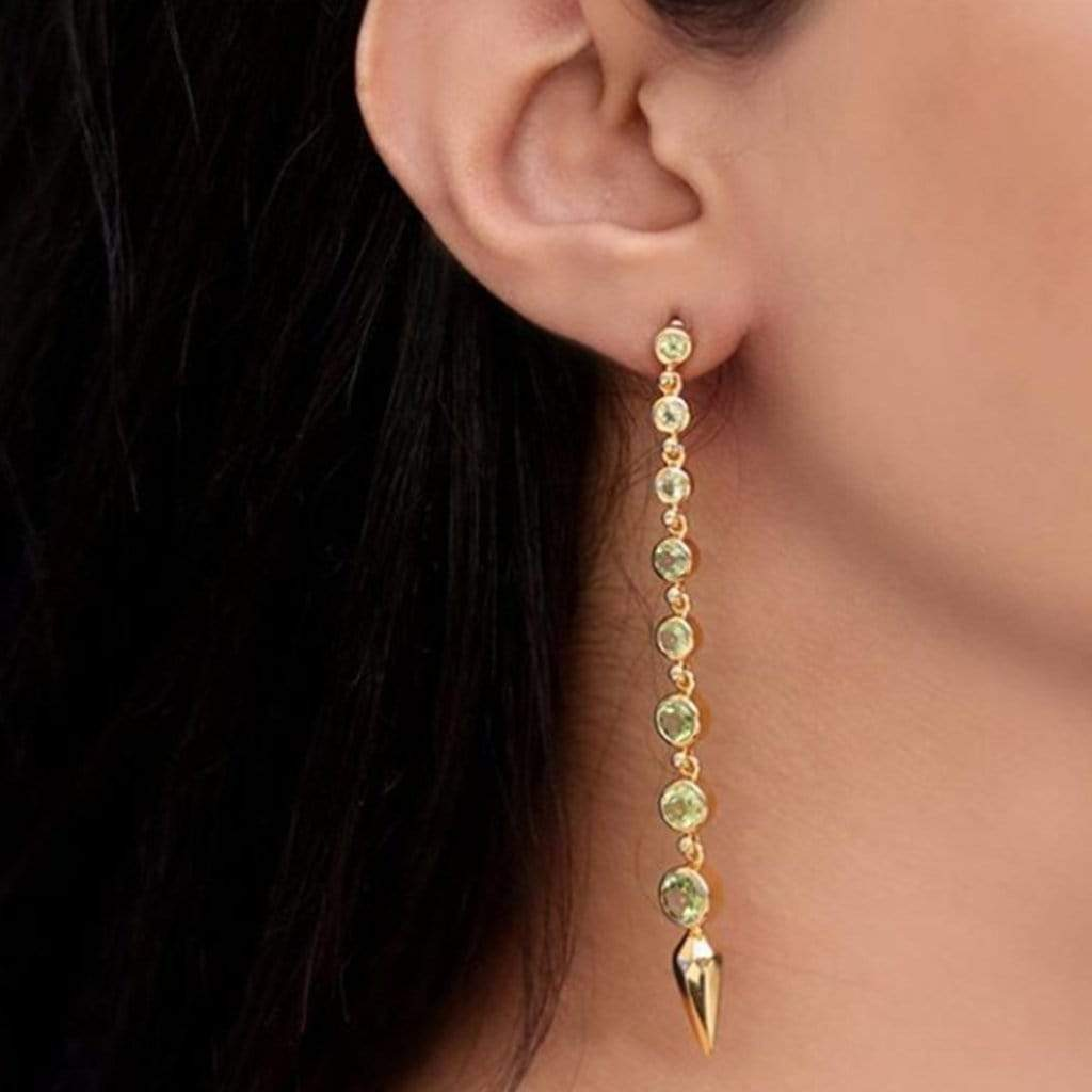 Amrapali Earrings Silver gold-plated earrings
