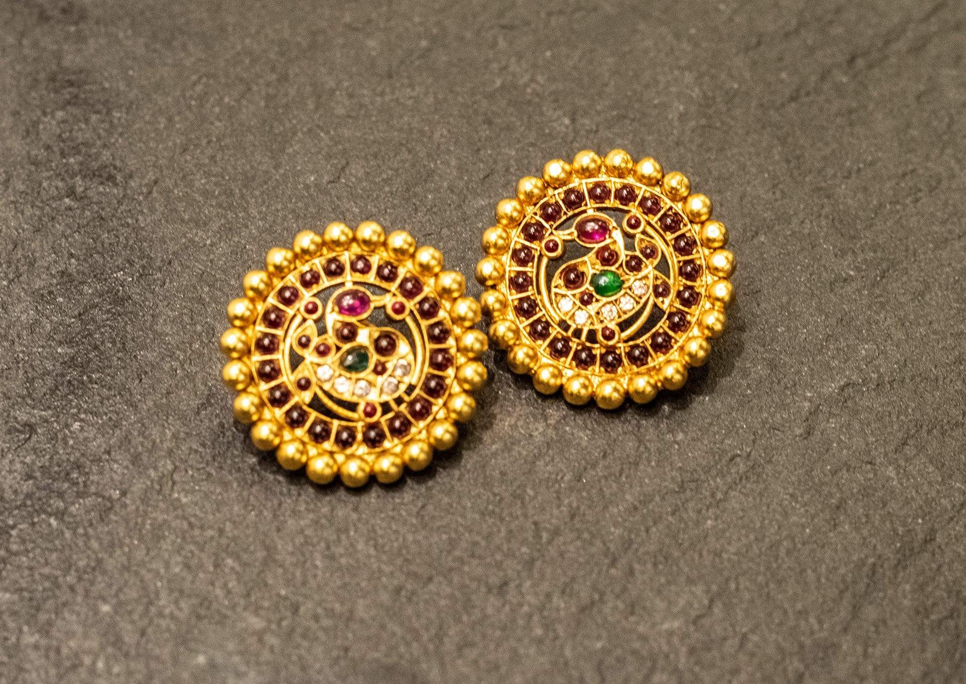 Amrapali Earrings Traditional round studded earrings