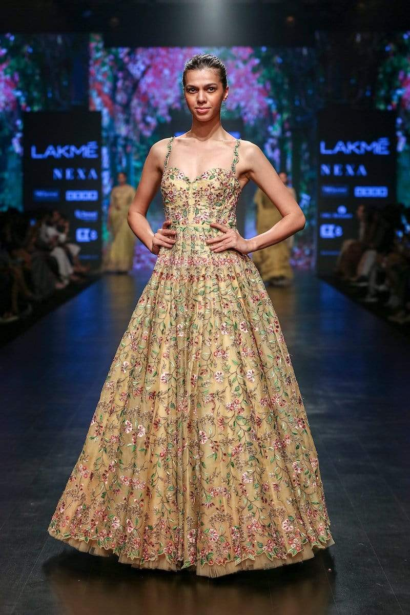 Anushree Reddy Gowns Multi theardwork gown
