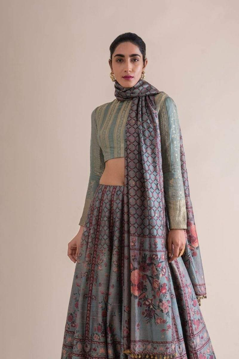 Ekaya Light Lehengas Digital printed lehenga set