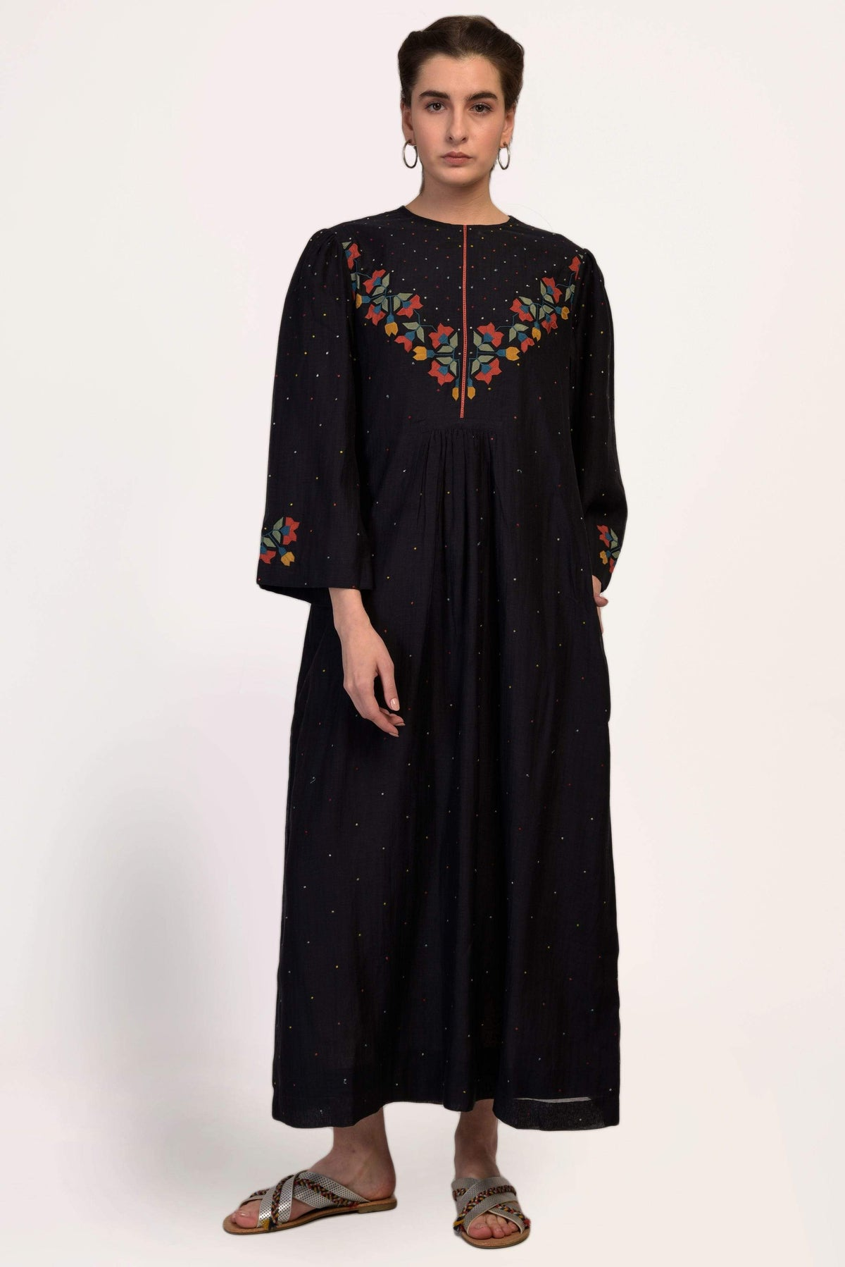 Ikai by Ragini Ahuja Dresses Centre gather dress in black