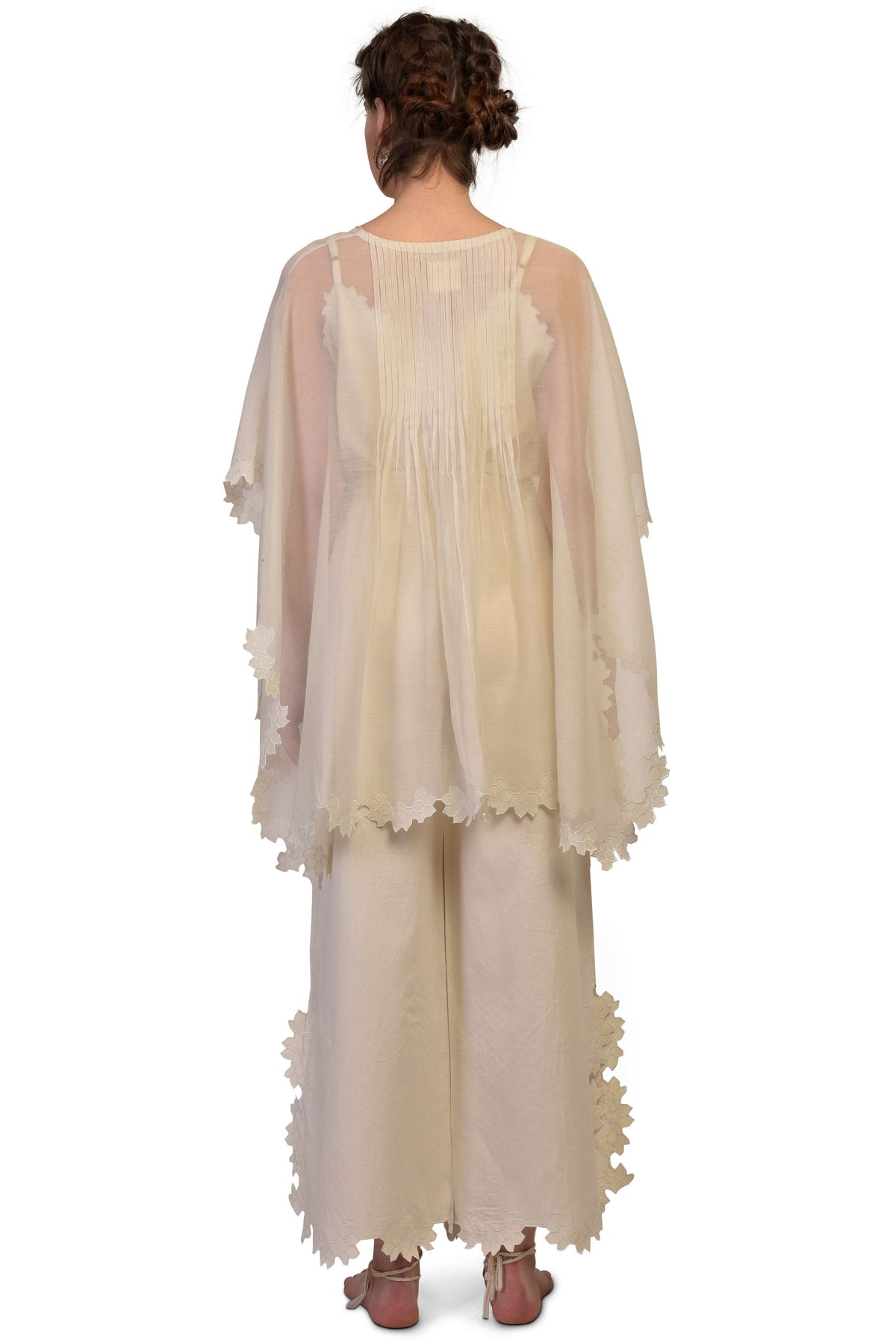 Ikai by Ragini Ahuja Kaftans Back pleated kaftan