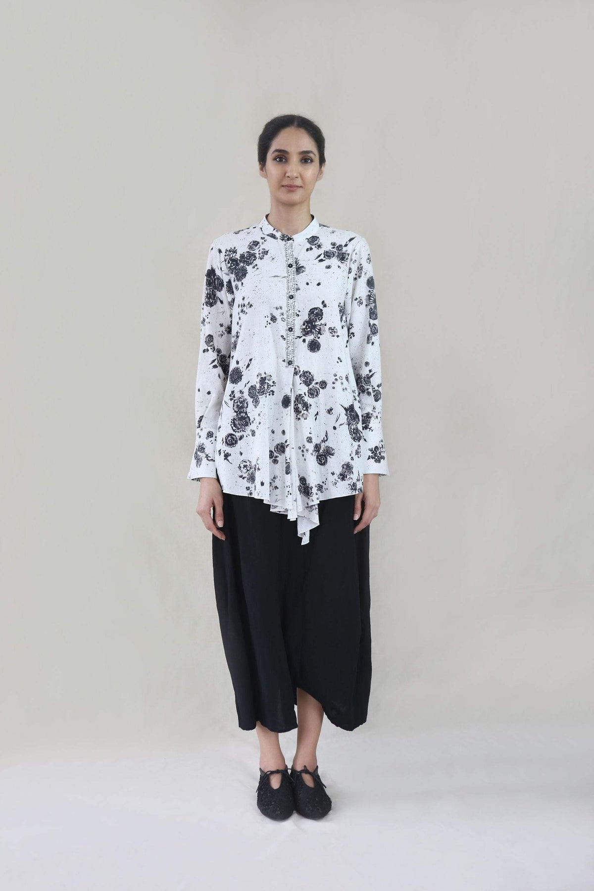 Integument Shirts & Tops Asymmetric khadi shirt